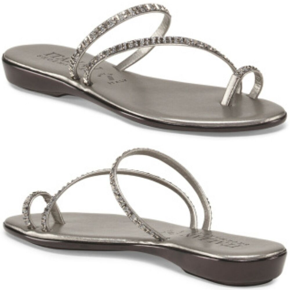 Slide Sandals With Toe Ring