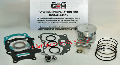 Honda TRX 250 Recon & 250EX Engine Motor Top End Rebuild Kit & Machining Service