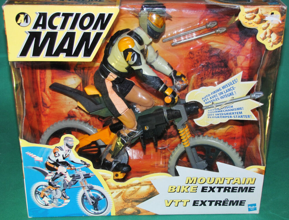 very rare original 12 inch action man mountain bike extreme mib hasbro 1998 ebay. Black Bedroom Furniture Sets. Home Design Ideas