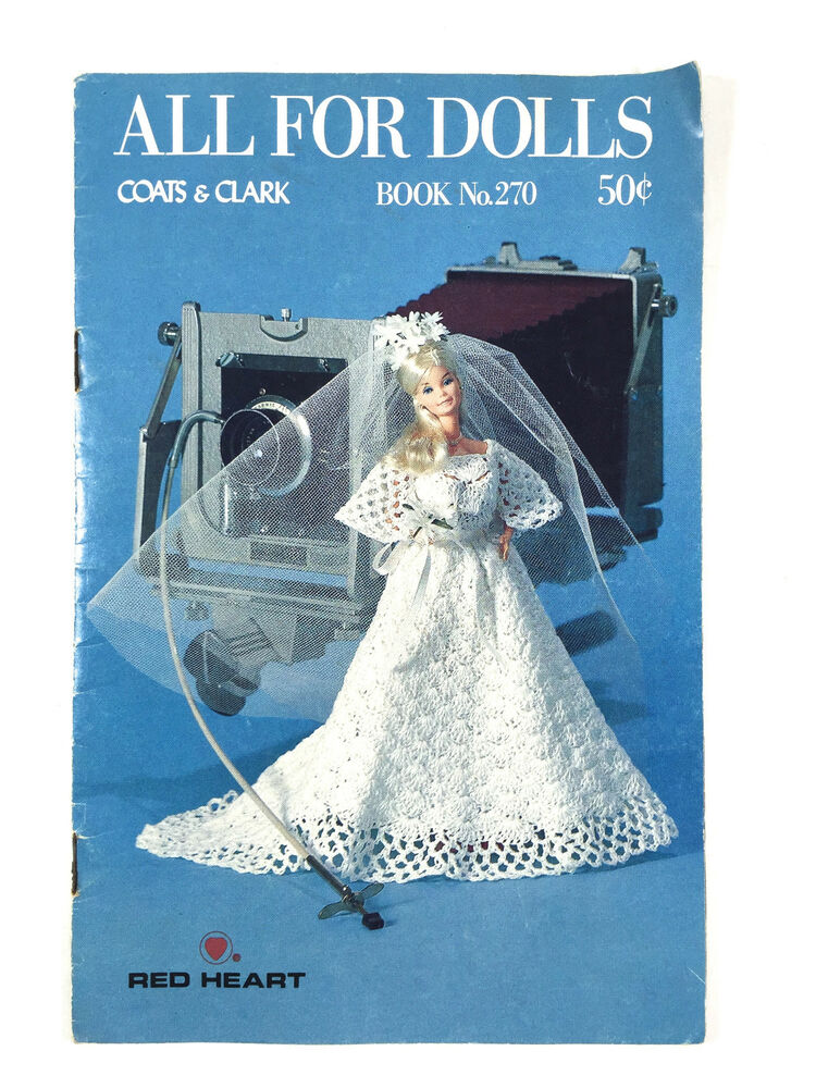 People Knitting Book : Vintage all for dolls crochet knitting pattern book