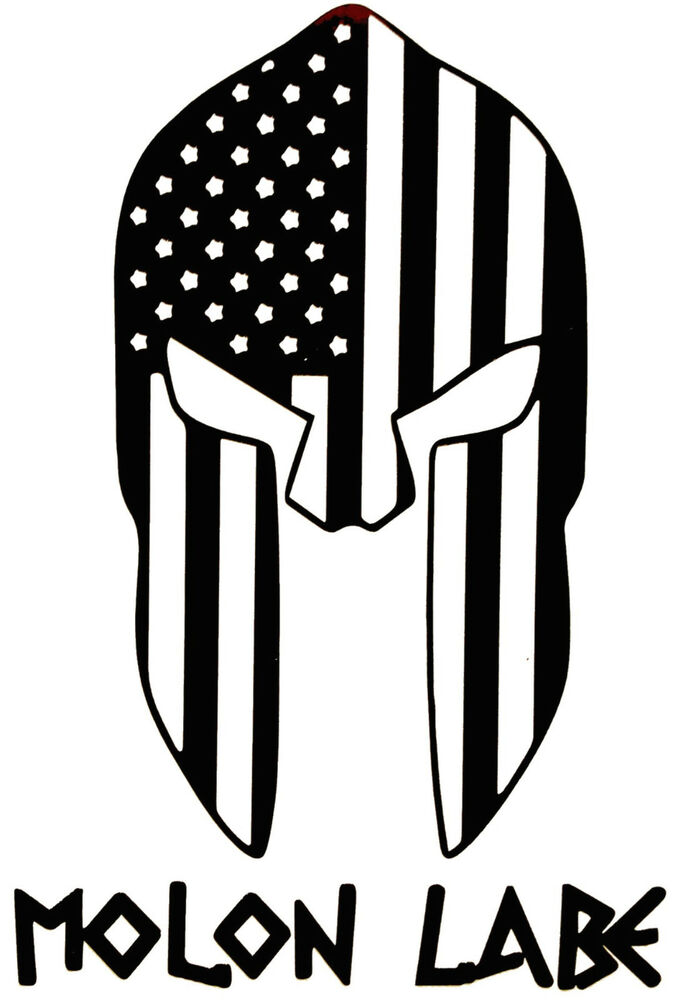 Molon Labe Spartan Helmet Stars Stripes Come And Take It