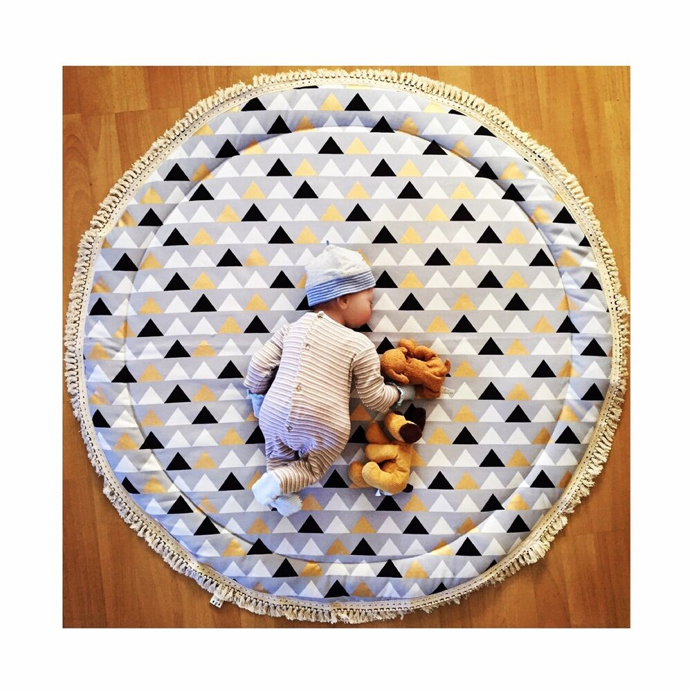 NEW BABY PADDED ROUND TUMMY TIME PLAY MAT ROUNDIES NURSERY