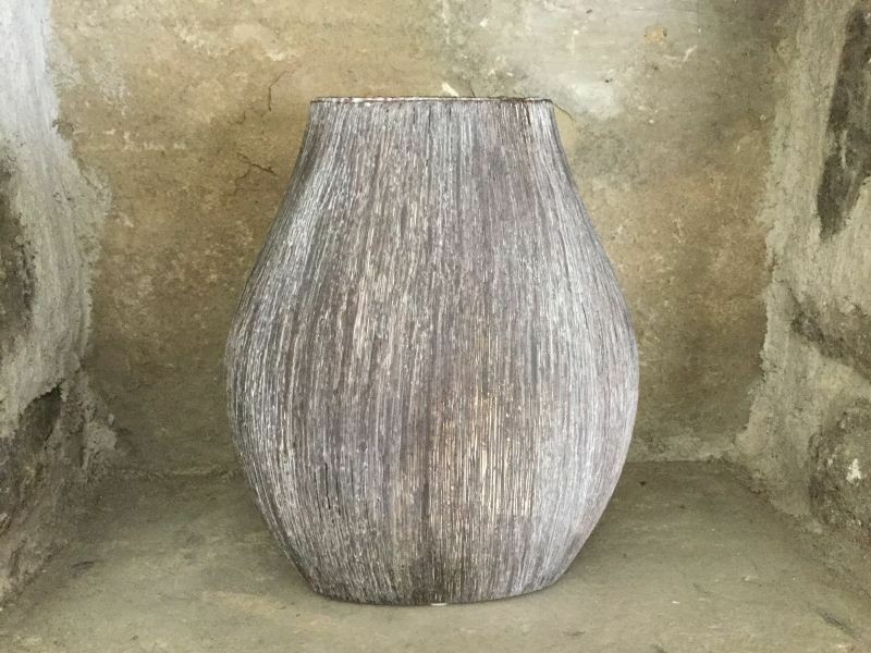 Sia Rustic Wood Effect Ceramic Vase 3533597030800 Ebay