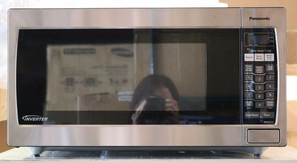 Panasonic 1 6 Cu Ft Full Size Microwave Stainless