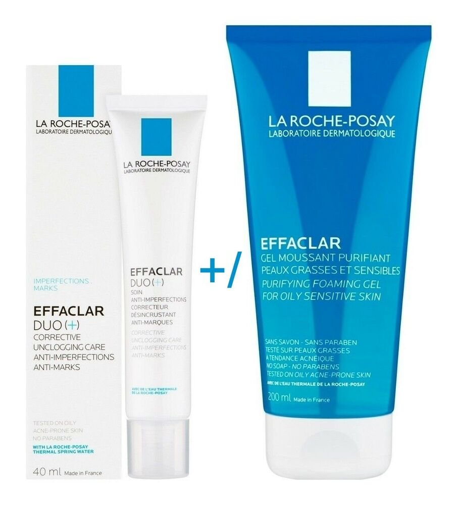 la roche posay effaclar duo cream effaclar purifying foaming gel uk stock ebay. Black Bedroom Furniture Sets. Home Design Ideas