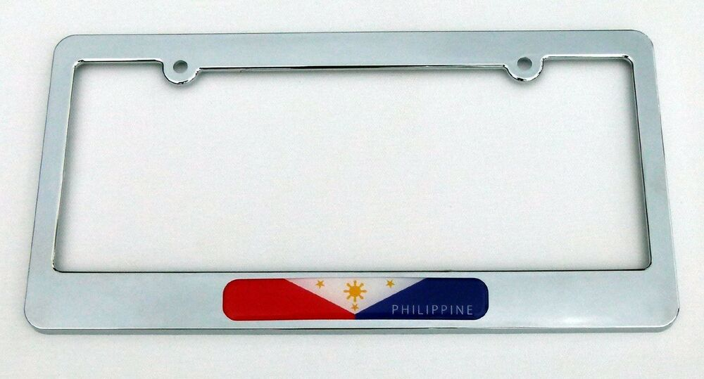 Philippine Flag Plastic Chrome Plated Car License Plate