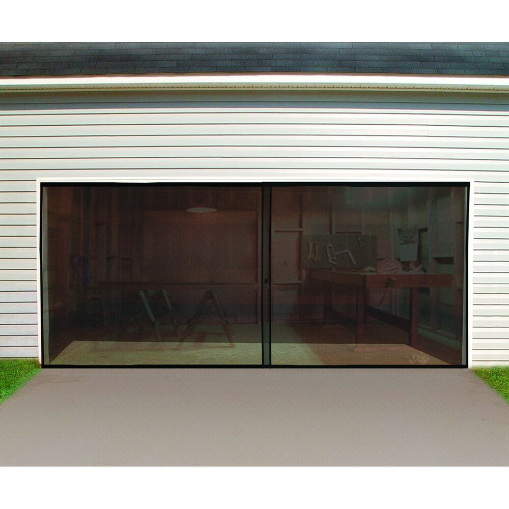 Garage workshop porch mesh privacy screen fly bug privacy for Screen door garage roller door