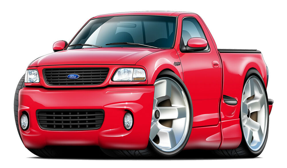 Ford Mustang Shoes >> Ford SVT Lighning F150 Muscle Truck Art Print NEW   eBay