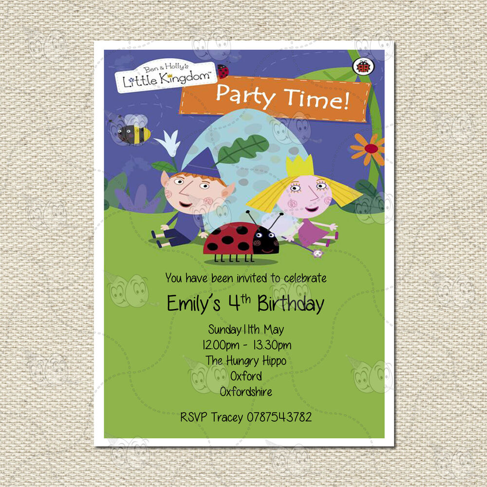 Personalised Ben and Holly Children\'s Party Birthday Invitation ...