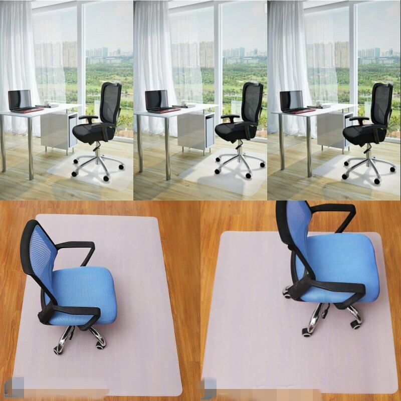 PP Office Chair Carpet Floor Mat Desk Computer Plastic Heavy Duty Durable Lip