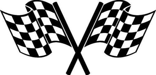 VINYL CHECKERED FLAG RACING EMBLEM BADGE DECAL STICKER ...