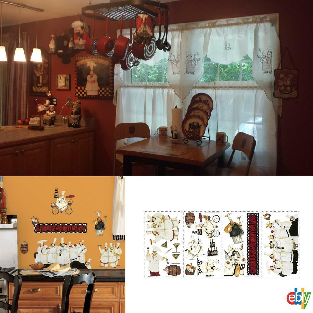 Kitchen Accessories Hanging: New CHEFS WALL DECALS Kitchen Chef Stickers Cooking Decor