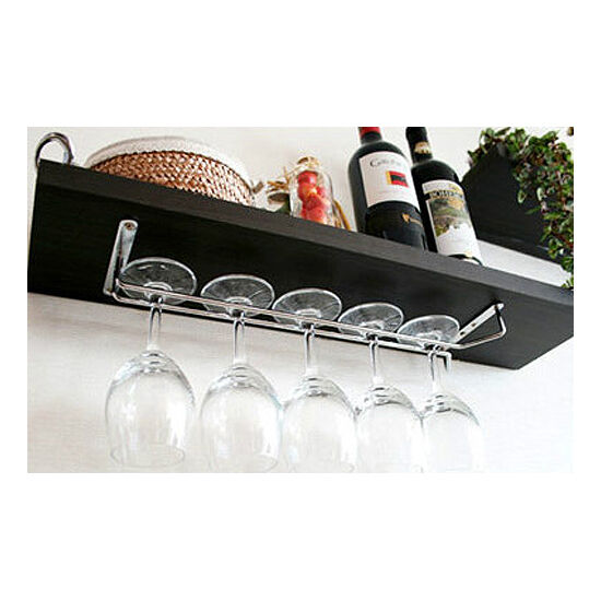 DIY Wine Glass Rack Kitchen Bar Dining Home Tool Shelf