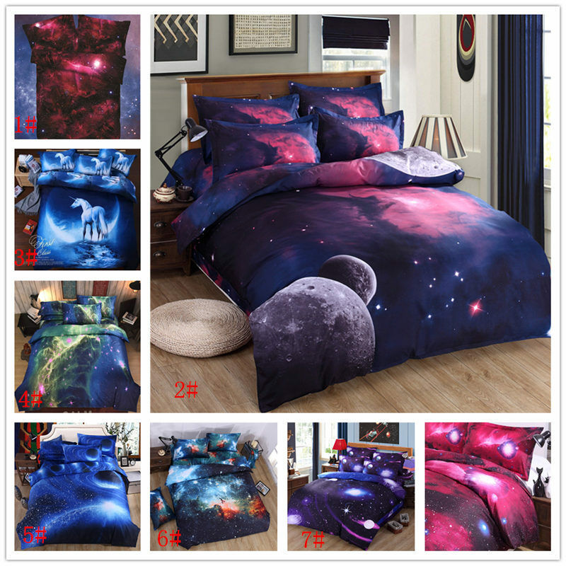 3d abstact sky universe outer space starry bedding set for Outer space bedding