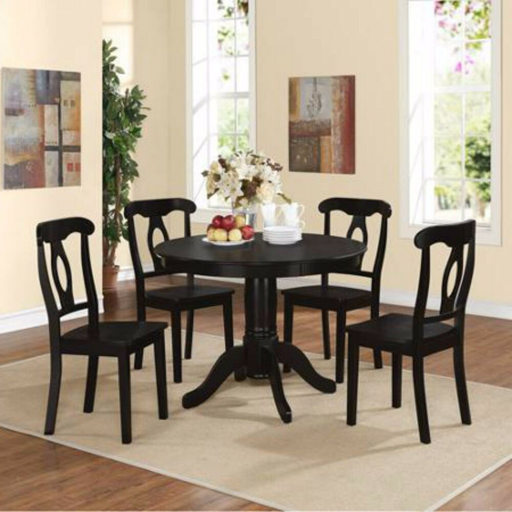 Bench Chairs Kitchen Tables And Chairs Ebay Free Kitchen: Dining Round Table Set 5 Piece Chairs Room Kitchen Chair