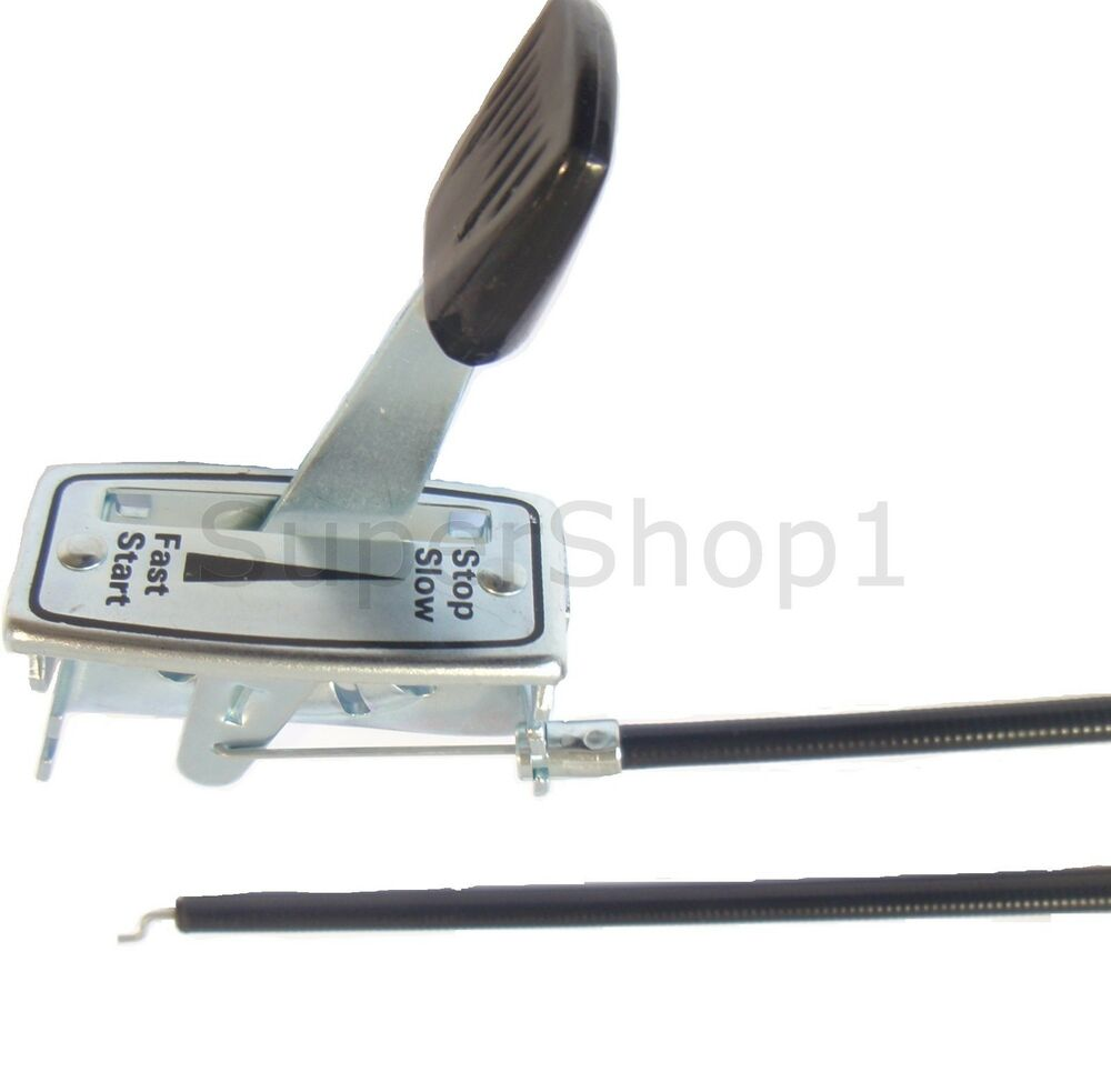 Control Cable Lever : Quot lawnmower universal throttle control lever cable