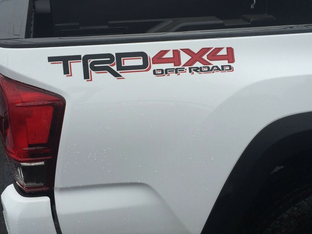 Tacoma Trd 4x4 Off Road Bedside Decal Black Red 75996