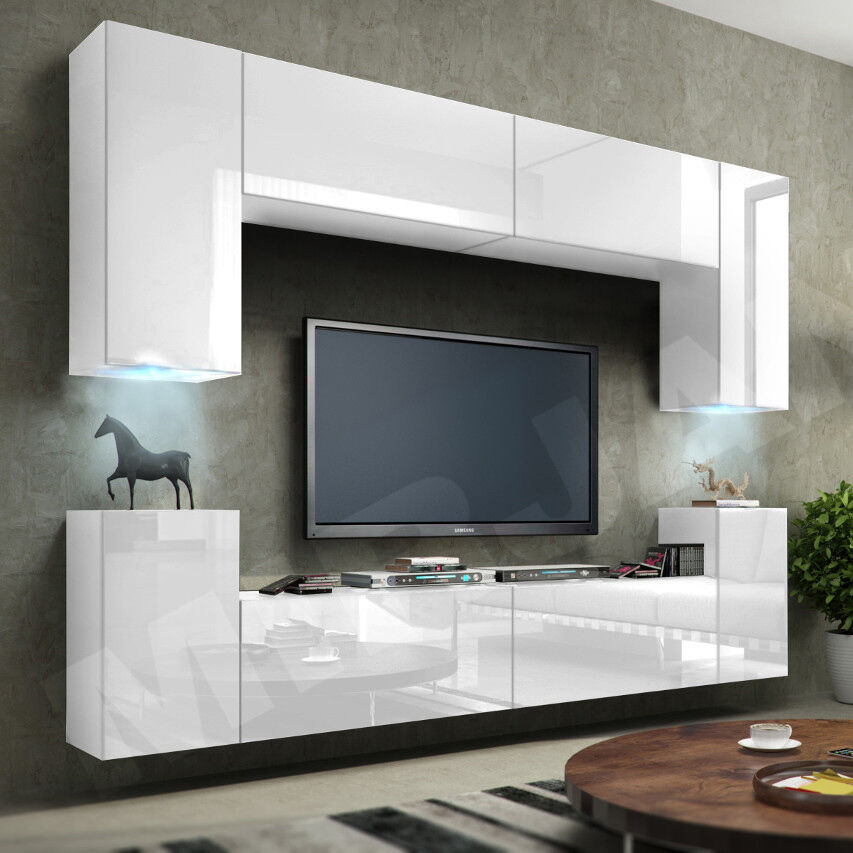 moderne h ngewohnwand lofter 01 wohnzimmer set m bel schrankwand anbauwand ebay. Black Bedroom Furniture Sets. Home Design Ideas
