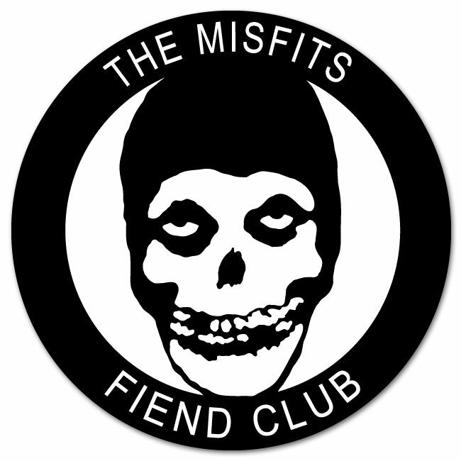Misfits Fiend Club Vynil Car Sticker Decal Select Size