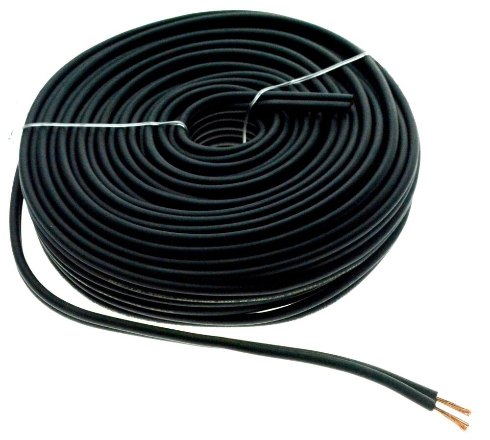 Speaker Wire Size : Black ft gauge awg car home audio speaker wire cable