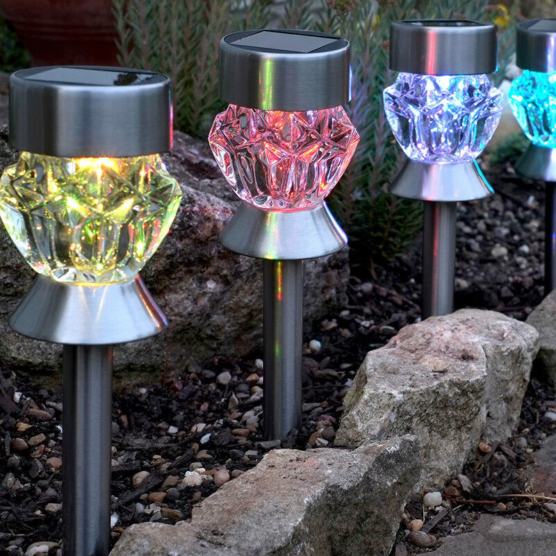 Solar Landscape Lights Outdoor: Solar LED Outdoor Lights Lawn Garden Landscape Path Color