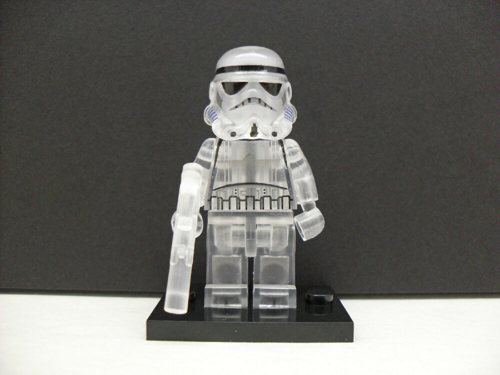 custom lego star wars transparent clear stormtrooper. Black Bedroom Furniture Sets. Home Design Ideas