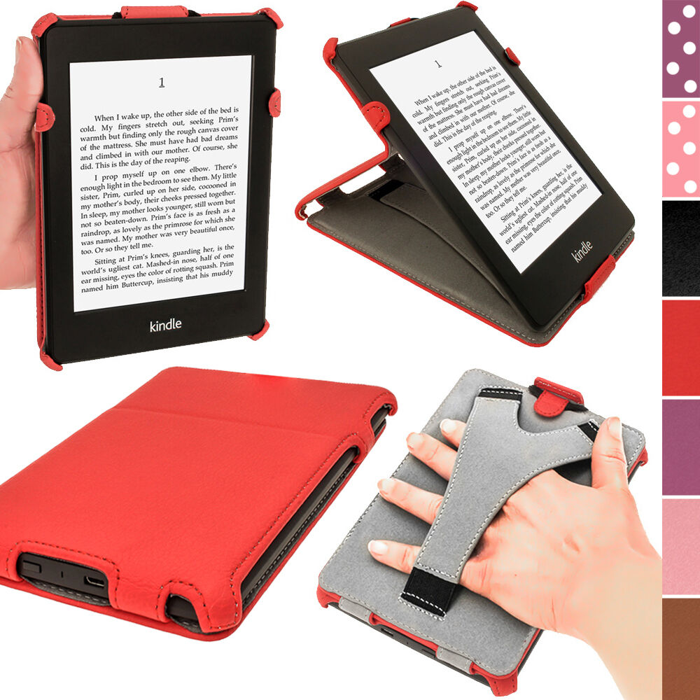 Red pu leather case for amazon kindle paperwhite 3g 6 wi for Amazon casa