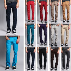 Kyпить Victorious Men's Slim Fit Colored Denim Jeans Stretch Pants    GS21 - FREE SHIP на еВаy.соm
