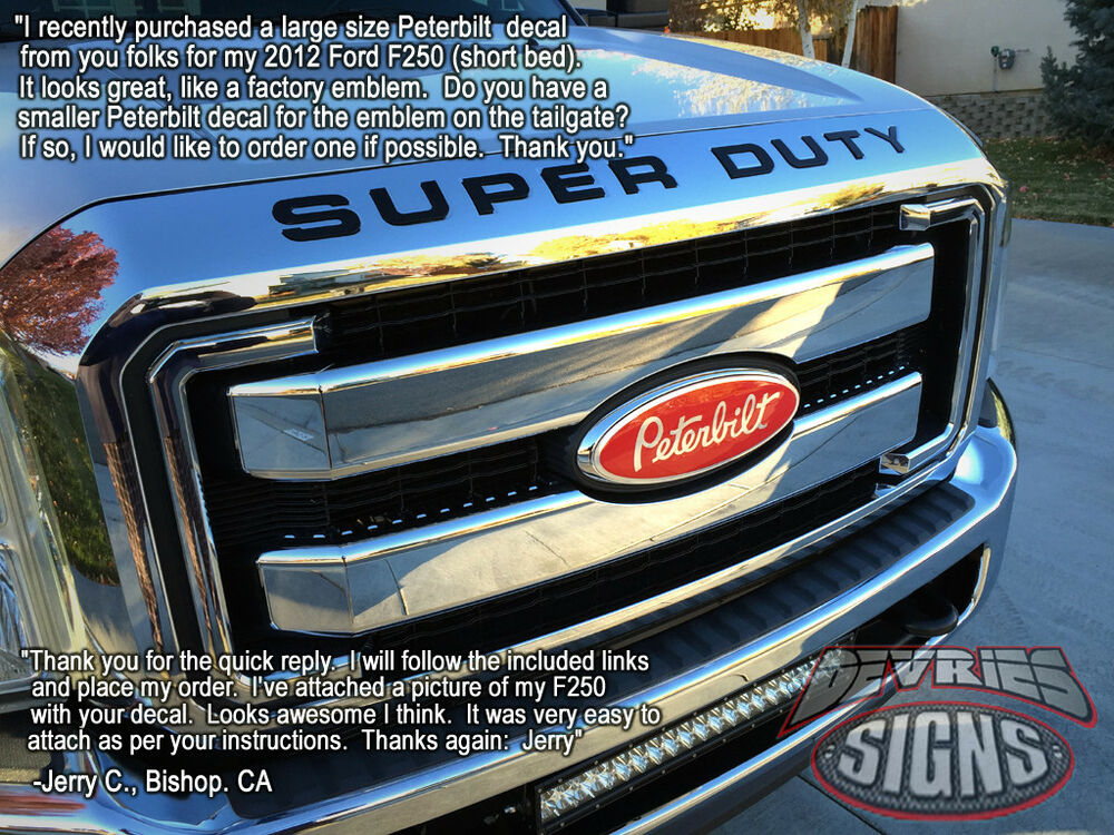 2017 Ford Fusion 2 0 Ecoboost >> DOMED PETERBILT Ford emblem overlays 3M™ F-150 Super Duty Ranger Expedition WOW | eBay