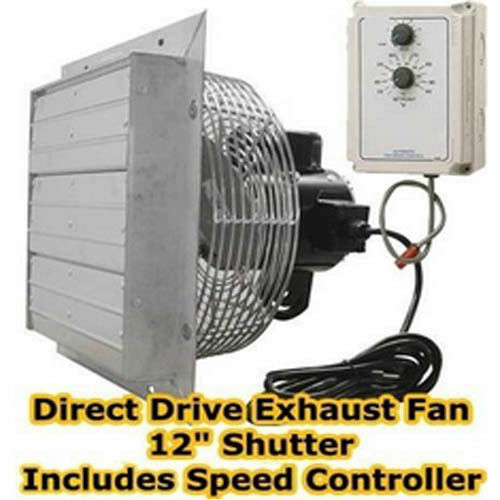 Exhaust fan direct drive 12 shutter variable speed for Variable speed condenser fan motor