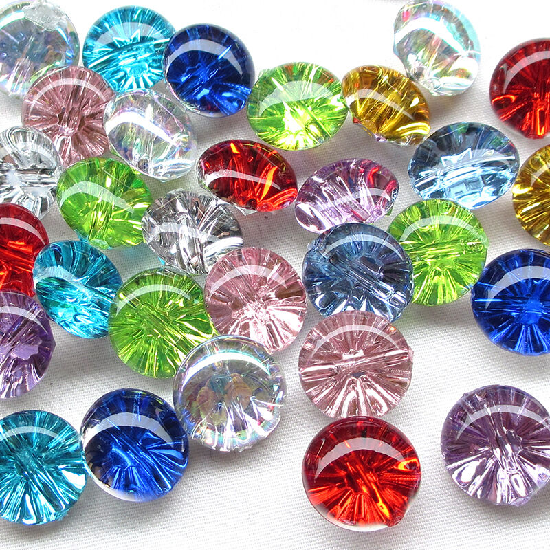 New 10 50pcs clear plastic buttons half ball 13mm sewing for Clear plastic balls for crafts