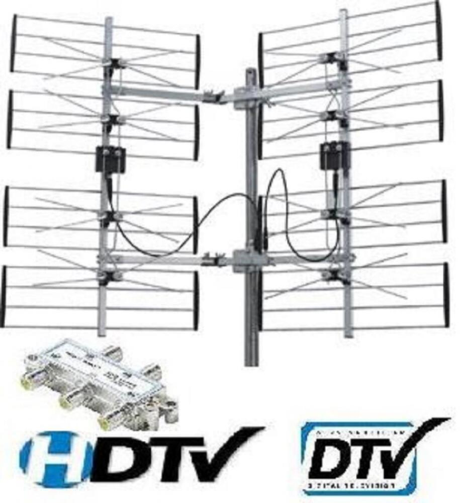 8 bay hdtv uhf dtv hd tv antenna 8bay ota over the air