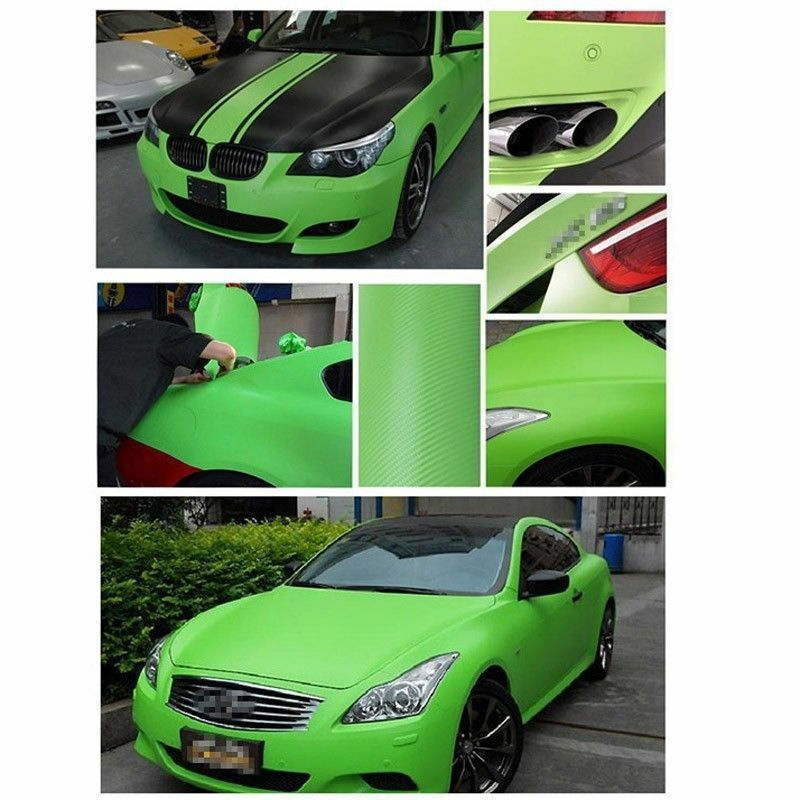 green carbon fiber vinyl wrap stickers car interior accessorie panel 30x127cm ebay. Black Bedroom Furniture Sets. Home Design Ideas