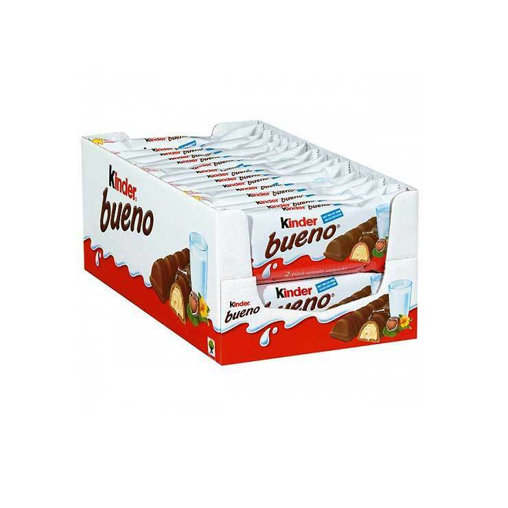 kinder bueno chocolate bars box 30 x 43g shipped from uk. Black Bedroom Furniture Sets. Home Design Ideas