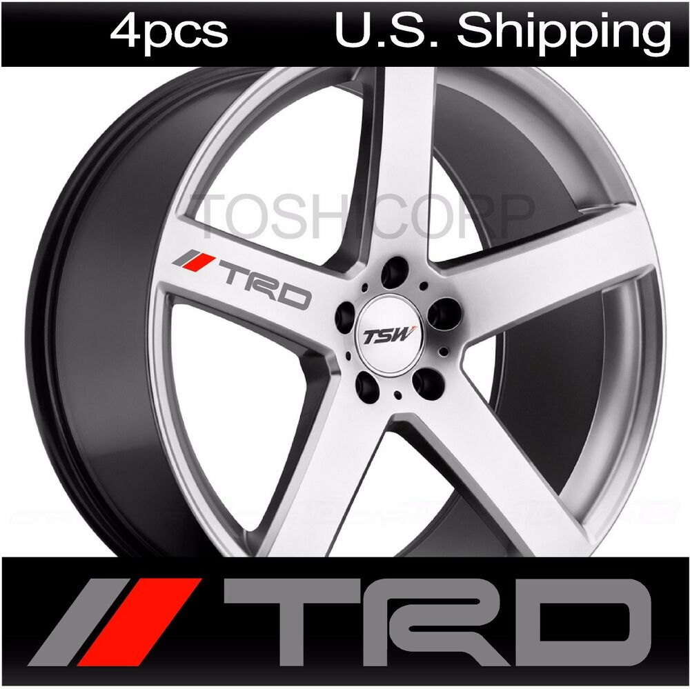 4 Trd Stickers Decals Tacoma Wheels Rims Toyota Sport