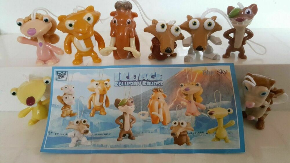 Toys From Ice Age 1 : Complete collectible figures set ice age kinder