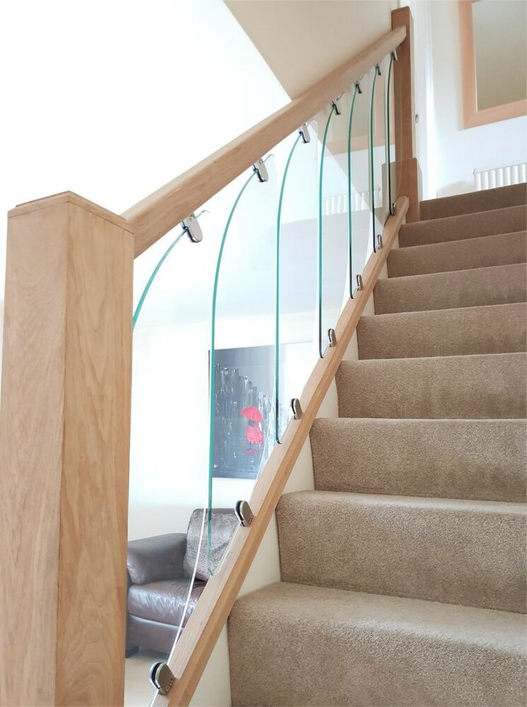 glass staircase panels for rake and landing glass. Black Bedroom Furniture Sets. Home Design Ideas