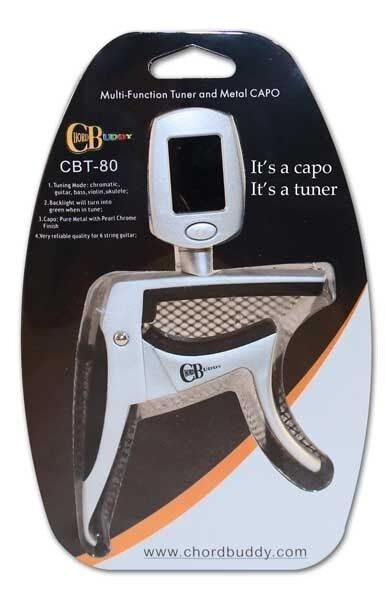 new chord buddy guitar capo chromatic tuner for electric and acoustic tuner capo ebay. Black Bedroom Furniture Sets. Home Design Ideas