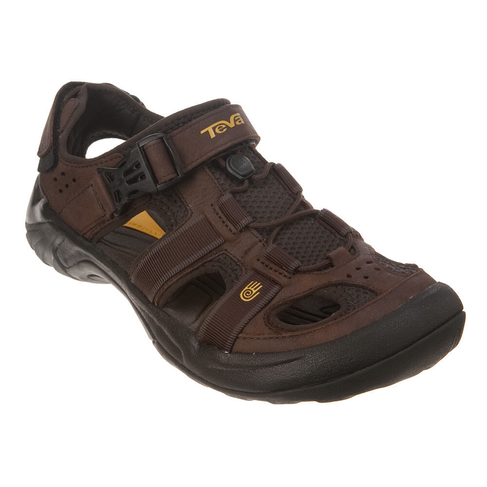 Teva Men S Omnium Leather Buckle Strap Sport Sandals