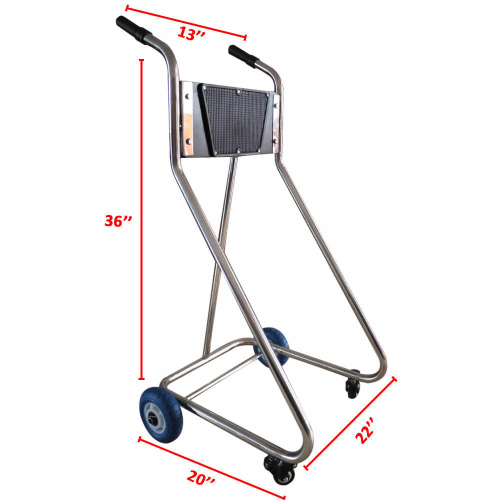 Heavy Duty Outboard Motor Dolly Trolley Stand Stainless
