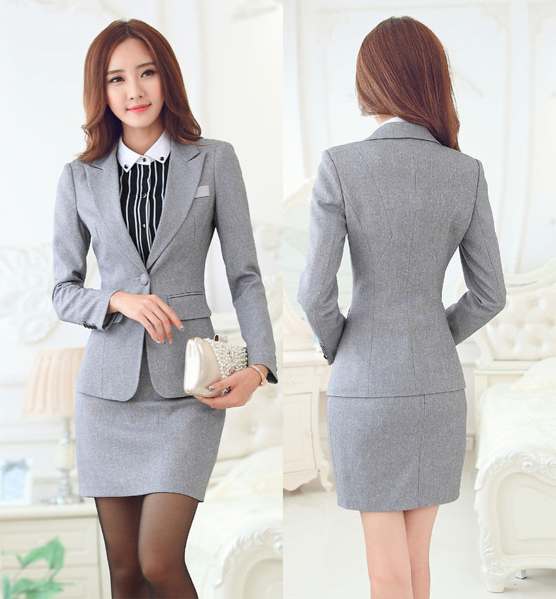 2016 Womens work wear OL formal blazer set office business suit skirt jacket | eBay