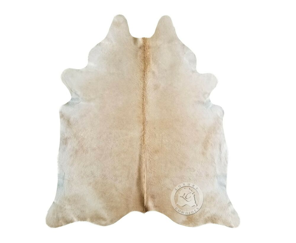 New Brazilian Cowhide Rug Palomino Solid Leather Cow Skin