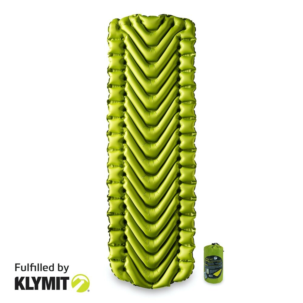 KLYMIT Static V2 Sleeping Pad GREEN Lightweight Camping ...