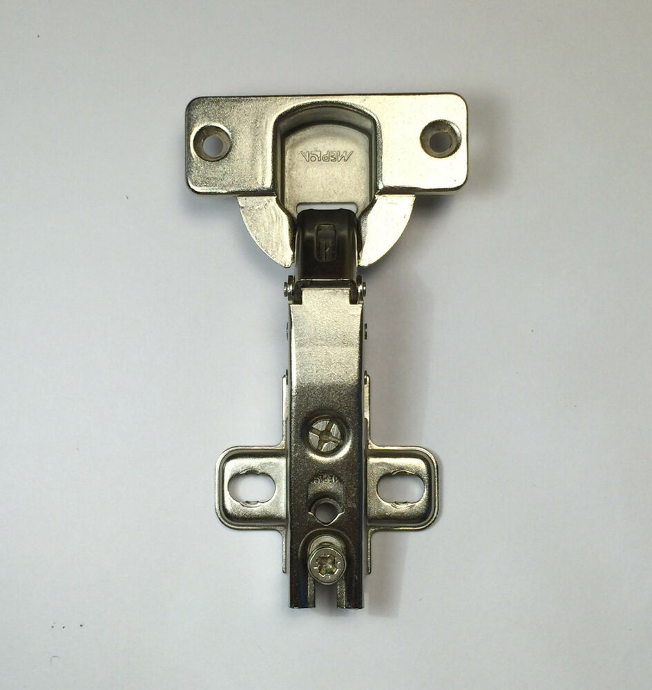 Mepla face frame cabinet hinges mounting plates nickel for Cabinet mounting plate