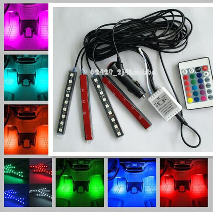 Full Color Led Glow Lights Interior Under Dash Footwell Kit For Ford F 150 F150 Ebay
