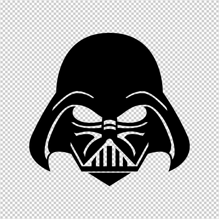 Star wars darth vader 7 inch vinyl die cut sticker ebay for Darth vader black and white