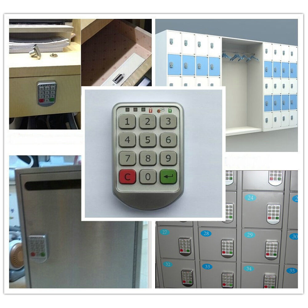 digital electronic password number keypad cabinet door intelligent code lock new ebay. Black Bedroom Furniture Sets. Home Design Ideas