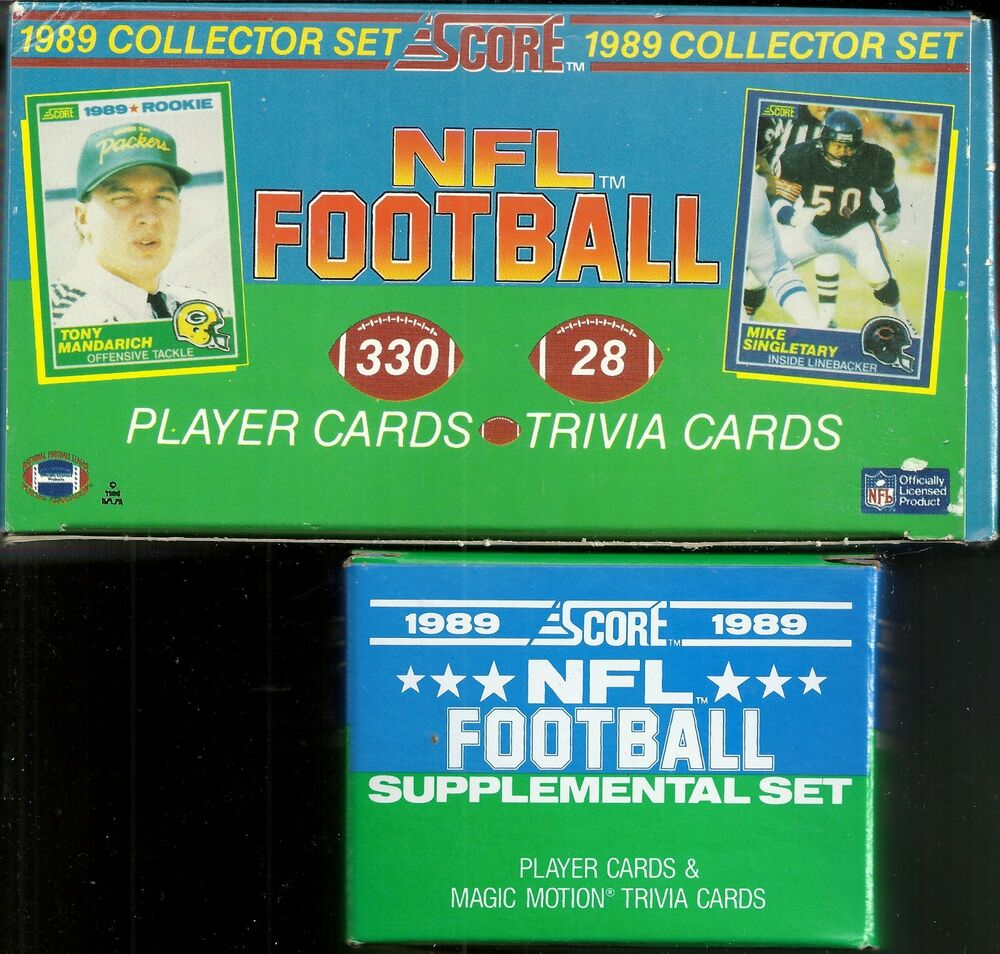 Barry Sanders 1989 Score Rookie Card: 1989 Score Football Factory Set W/ Update Set Barry