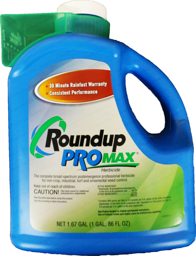 monsanto roundup promax weed killer concentrate gallon jug ebay. Black Bedroom Furniture Sets. Home Design Ideas