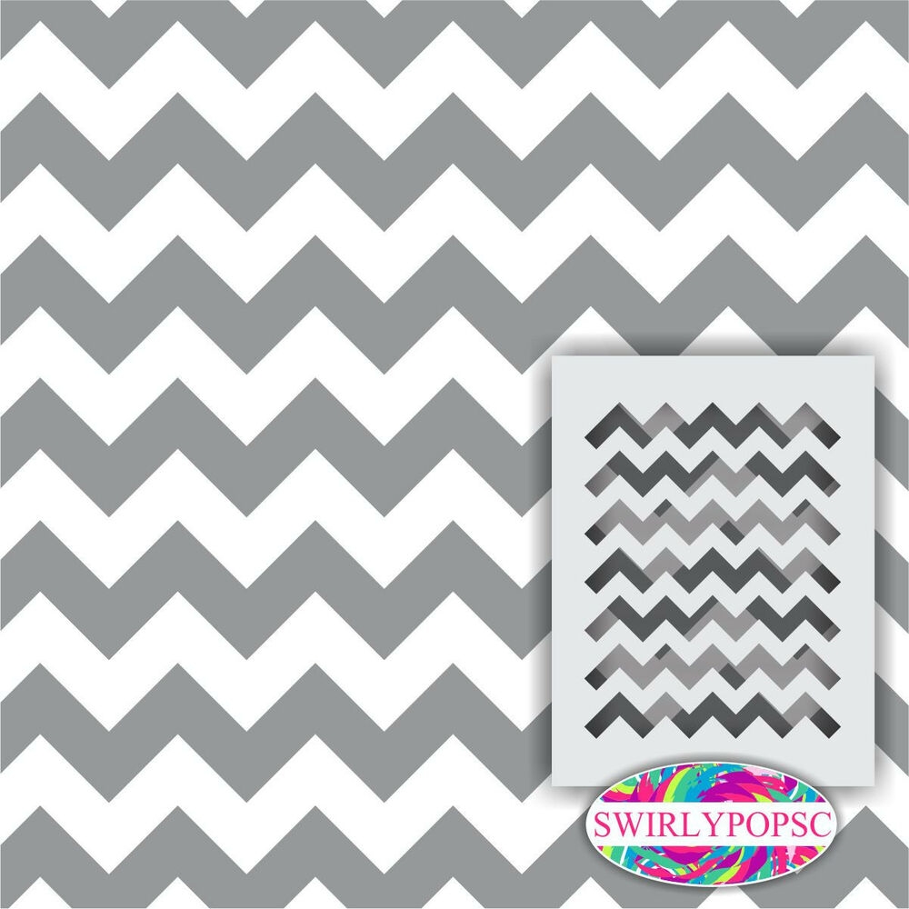 chevron template for painting - chevron zig zag stencil 1 included large 12 x9